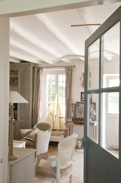 Vintage French Soul ~   French Country Cottage Living Room