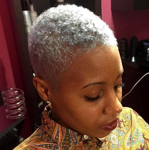 40 Twa Hairstyles That Are Totally Fabulous Short Grey Hair Short Natural Hair Styles Twa Hairstyles