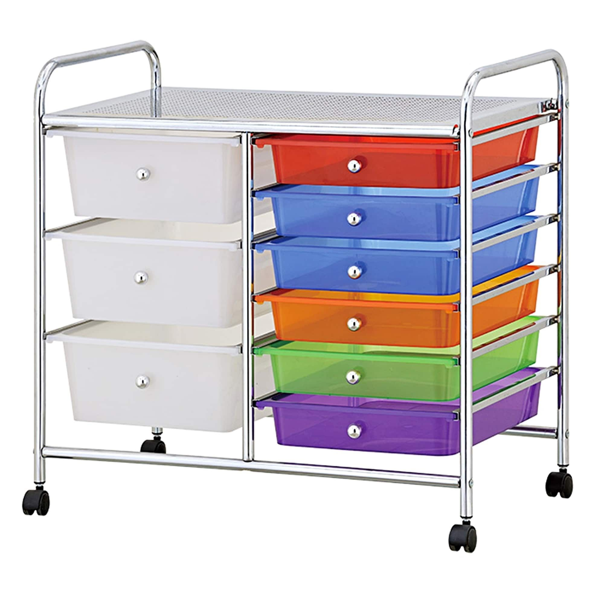 built wide drawer design three good drawers coolest casters stops for cart deep capacity white storage added looking portable heavy duty in mobility easy