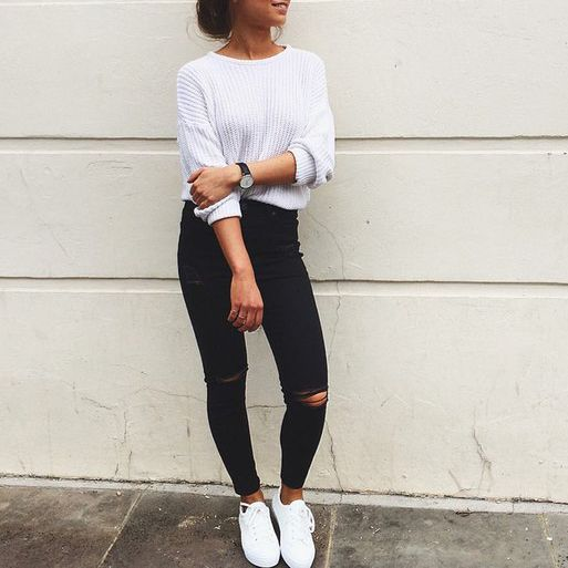 autumn, black jeans, fall, fashion, girl, outfit, tumblr in