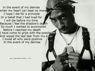 Wallpaper Quotes 2pac 2Pac In The Event Of My Demise