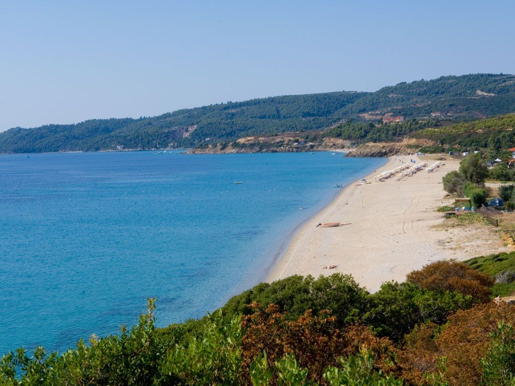 Amazing blue and sandy #beach at #Sithonia #Halkidiki #Greece