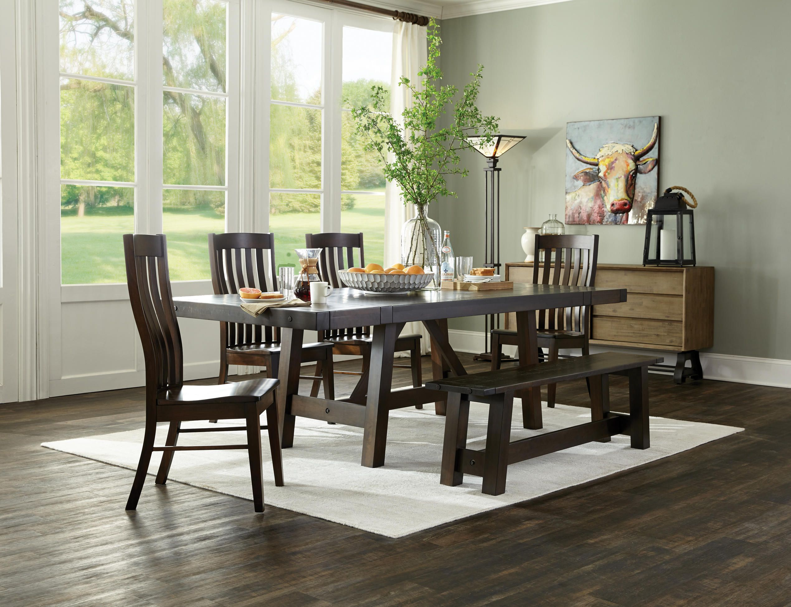 The Houghton Dining Group Is Made Of Solid Maple And Beautifully