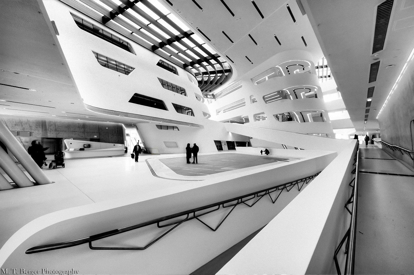 Inside the University of Economics and Business in Vienna, Austria.