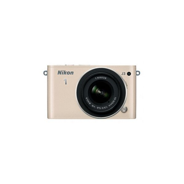 Nikon 1 J3 w/10-30mm Lens Beige Compact System Camera (€580) ❤ liked on Polyvore featuring fillers, camera, tech, electronics, accessories and backgrounds