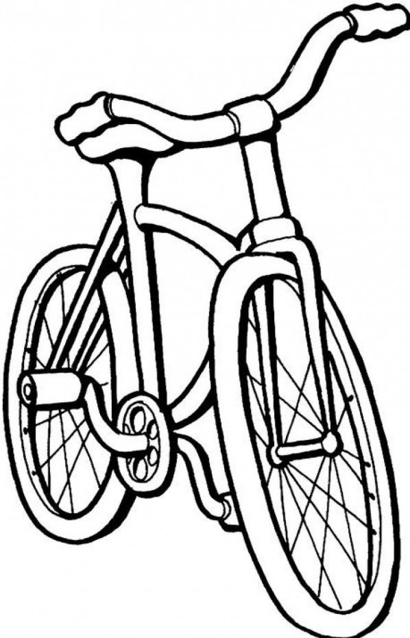 Bike Games Colouring Pages Bicycle Pattern Coloring Pages
