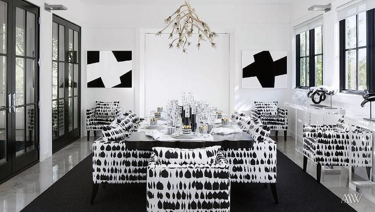 Queen Of Spain Fabric On Shade  Google Search  For The Home Pleasing Black And White Dining Room Review