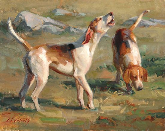 Working Foxhounds By Linda Volrath собаки и другие