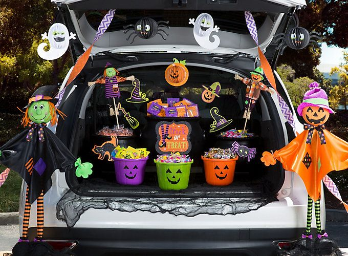 ideas for trunk or treat events candy free halloween handouts and more