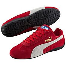Speed Cat Trainers: The Speed Cat is the most classic shoe in our PUMA Motorsport collection. Targeting all motorsport enthusiasts, this style features a modern suede upper and the famous PUMA formstripe. Thanks to its soft upper and great motorsports-inspired tooling, the Speed Cat remains synonymous with comfort and sporty style. Comfortable and stylish suede upper. Padded collar and tongue for more cushioning. Slightly rounded heel. Low-profile outsole for a low-to-the-ground feel...