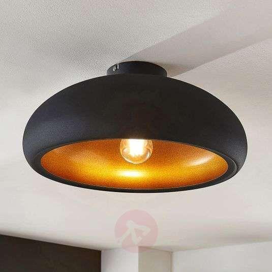 Metalen Plafondlamp Gerwina Zwart Goud Van Lampenwelt Com In 2020