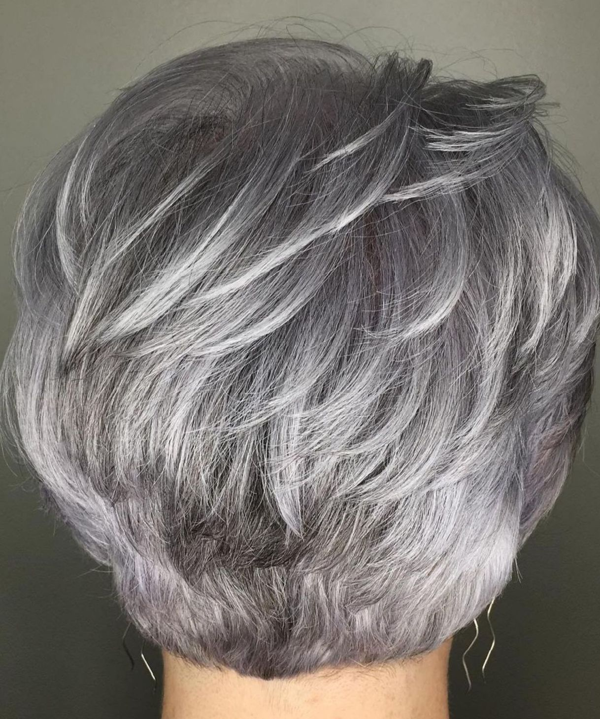 Feathered Gray Pixie  Hair styles, Gorgeous gray hair, Short hair