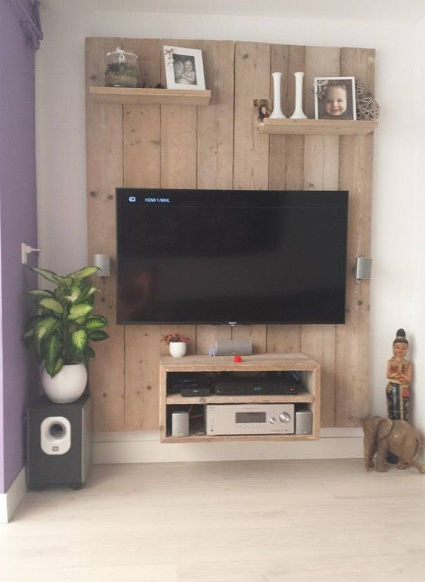 Super gave tvkast van steigerhout. Zelf gemaakt!   Tv oplossingen ...