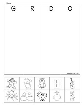 G, R, D, & O beginning sounds review sheet | Reading/Language Arts ...