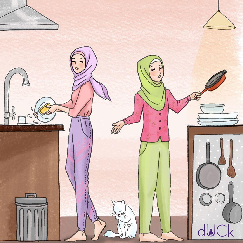 Duckscarves instagram illustration Kartun, Sahabat