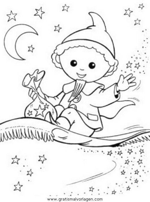 Sandman with sleeping dust coloring page, 2020   Boyama ...