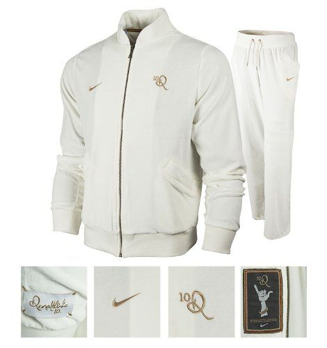 all white nike tracksuit
