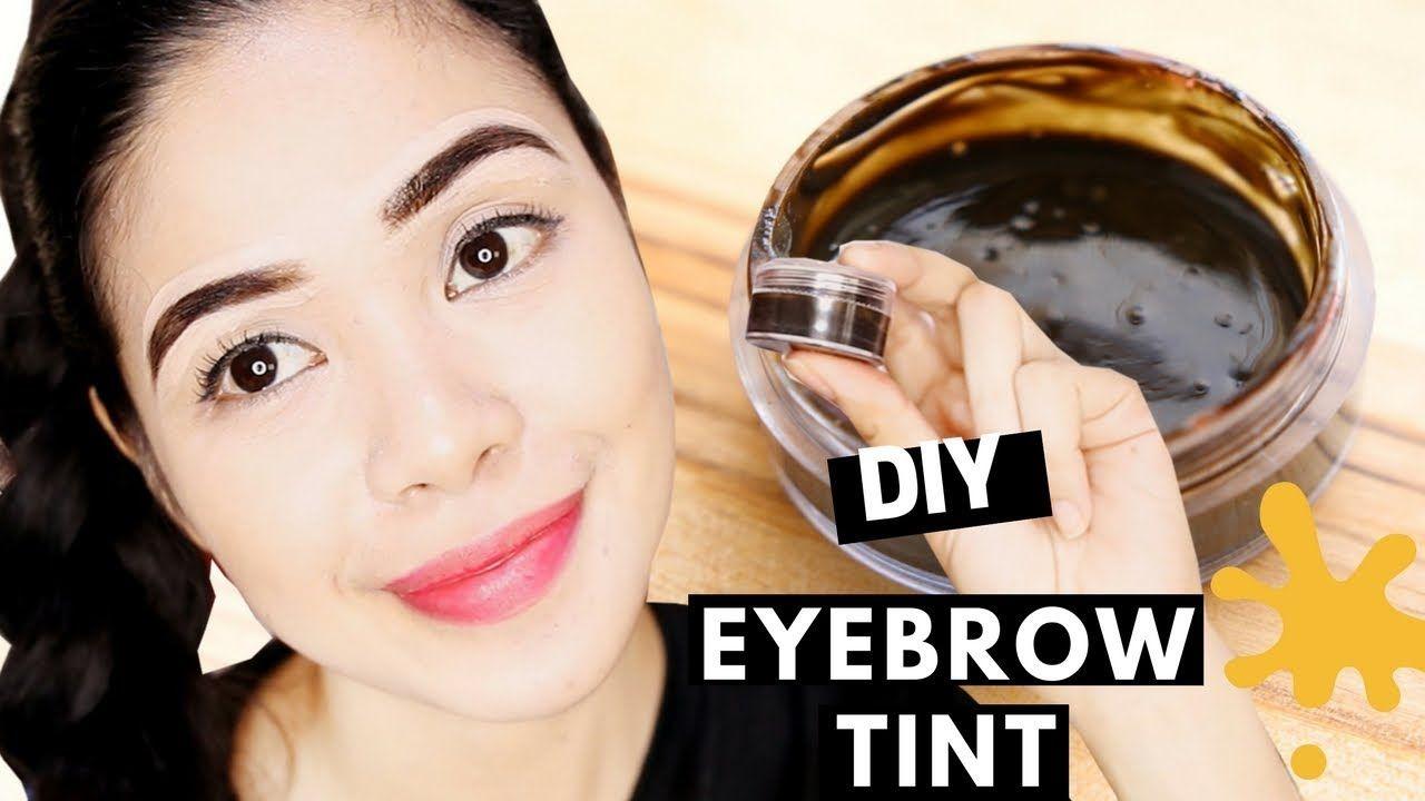 Diy Eyebrow Tint Using Food Coloring Does It Work Beautyklove Eyebrow Tinting Eyebrow Tinting Diy Eyelash Tinting