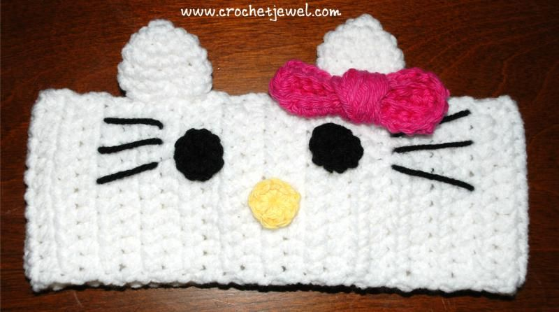 Crochet Hello Kitty headband FREE CROCHET pattern!« The Yarn Box ...