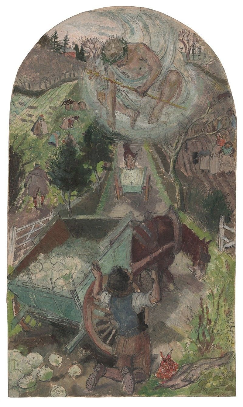 Evelyn Dunbar, Hercules and the Waggoner (Brockley), 1933
