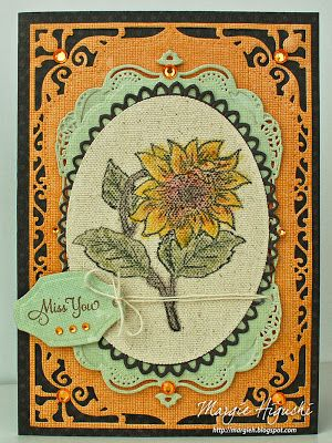 SCRAPS of (my) Life: Sunflower Vintage Labels Five Cling Stamps