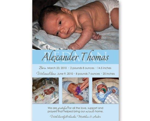 preemie homecoming announcement My preemie – Preemie Birth Announcements