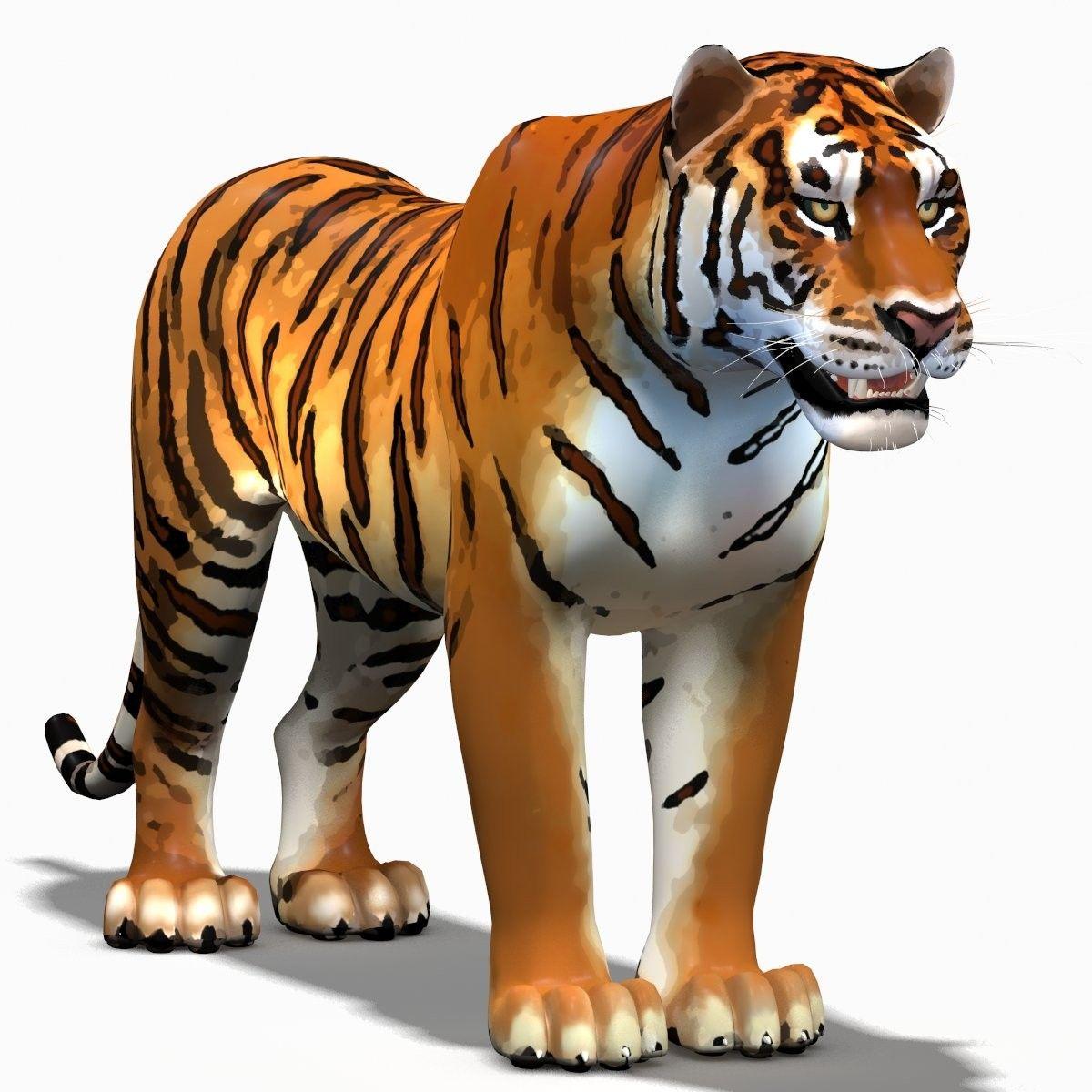 3d cartoon tiger Cartoon tiger, 3d cartoon, Cartoon