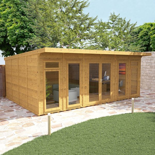 6m x 4m waltons insulated garden room free installation for Insulated office