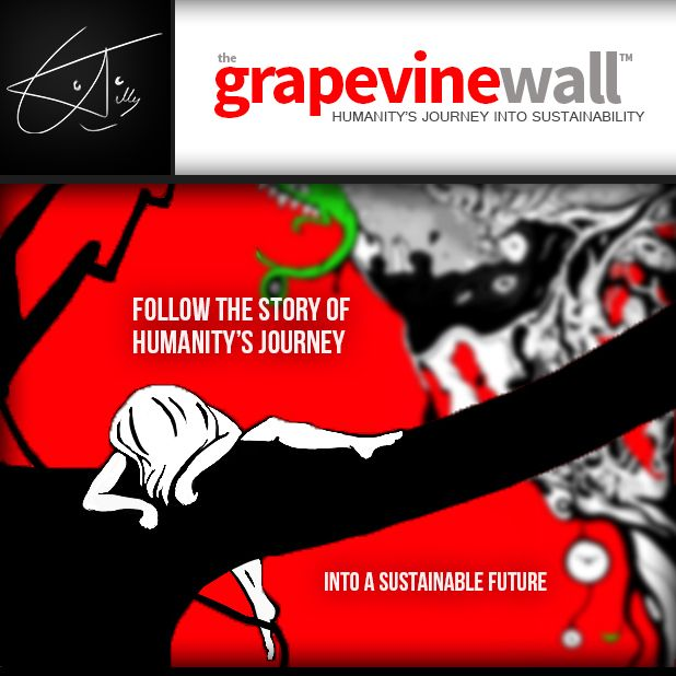 Welcome to Grapevine Wall: Follow the story of humanity's journey into a sustainable future.