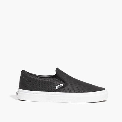 Vans® Classic Slip Ons in Perforated Leather | Slip on, Slip