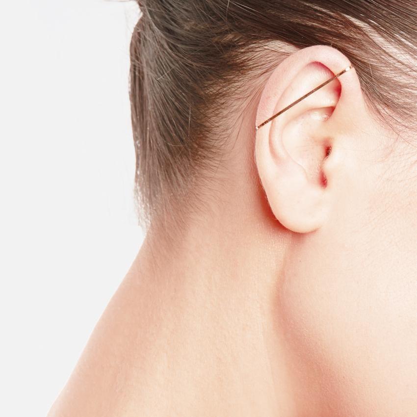 Gold Staple Earring