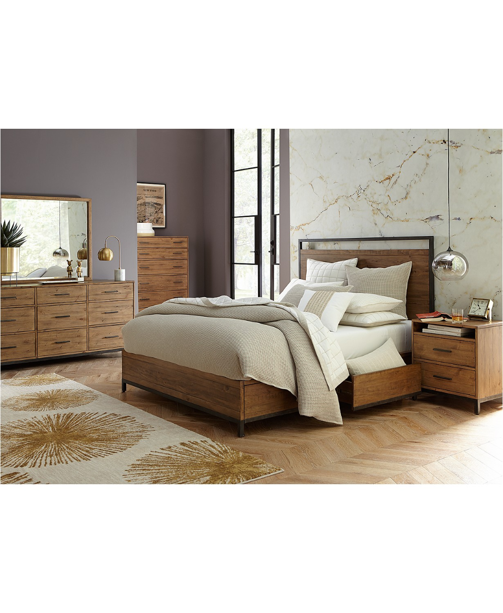 Furniture Gatlin Storage Queen Platform Bedroom Furniture 3 Pc Set Queen Bed Chest Nightstand Created For Macy S Reviews Furniture Macy S In 2020 Platform Bedroom Bedroom Furniture Bedroom Sets