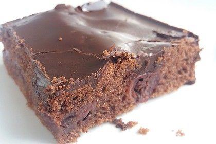 Schneller Schoko-Kirsch-Blechkuchen von FLOK | Chefkoch #dessertfacileetrapide