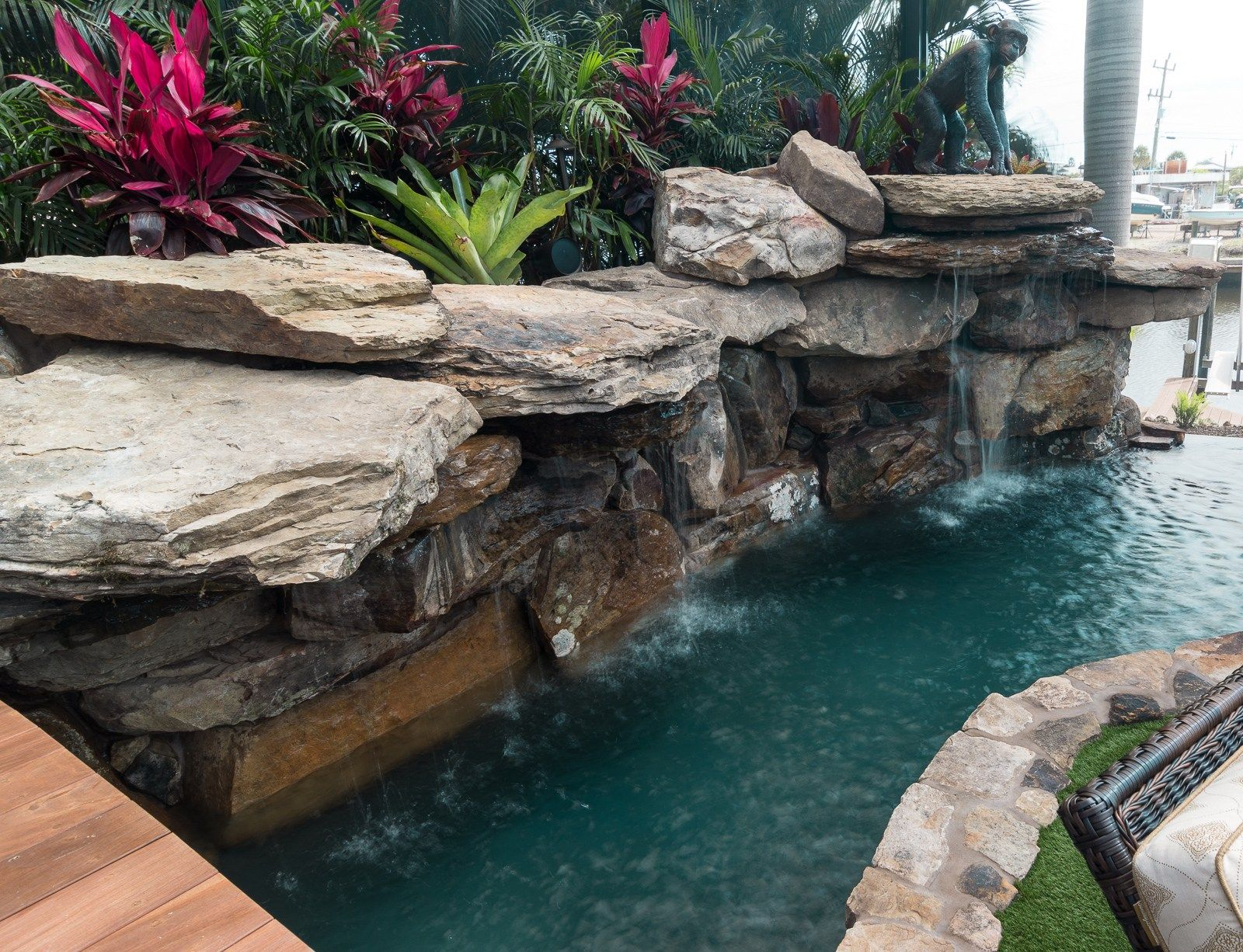 Lazy River Lucas Lagoons Custom Pool Waterfall River