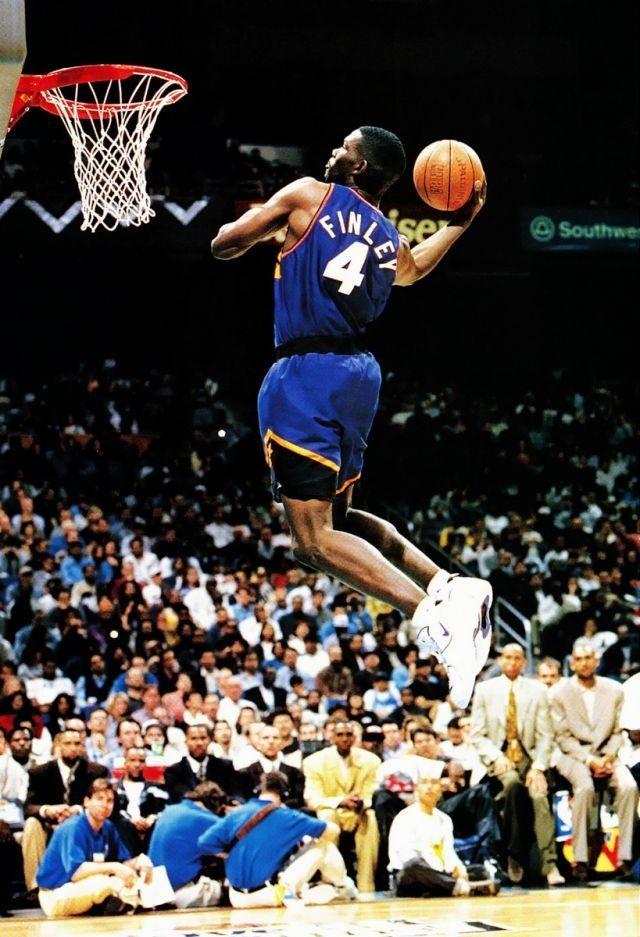 new product 50521 78ee6 Michael Finley Phoenix Suns NBA Slam Dunk Contest