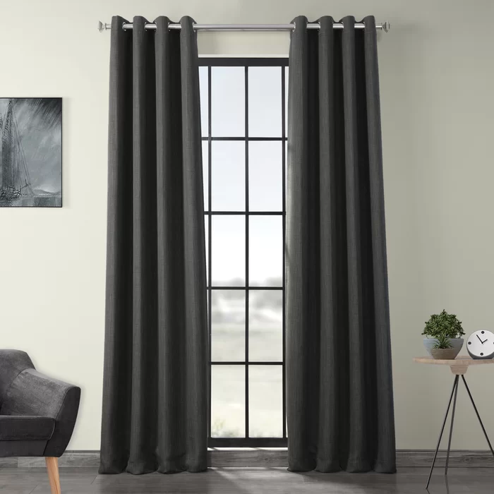 Charlton Home Lacrosse Room Darkening Grommet Single Curtain Panel Reviews Wayfair In 2020 Curtains Drapes Curtains Linen Blackout Curtains