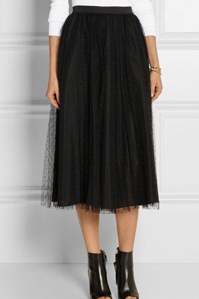 278adf19b2 Falda negra larga doble tejido - Minifaldas y faldas sexys