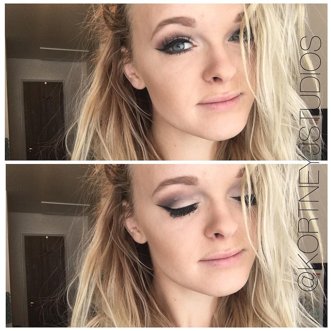 Subtle smoky eye and winged eyeliner @kortneyjstudios