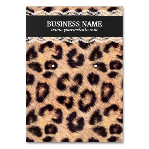 Earring jewelry display modern leopard print business card card earring jewelry display modern leopard print business card reheart Images