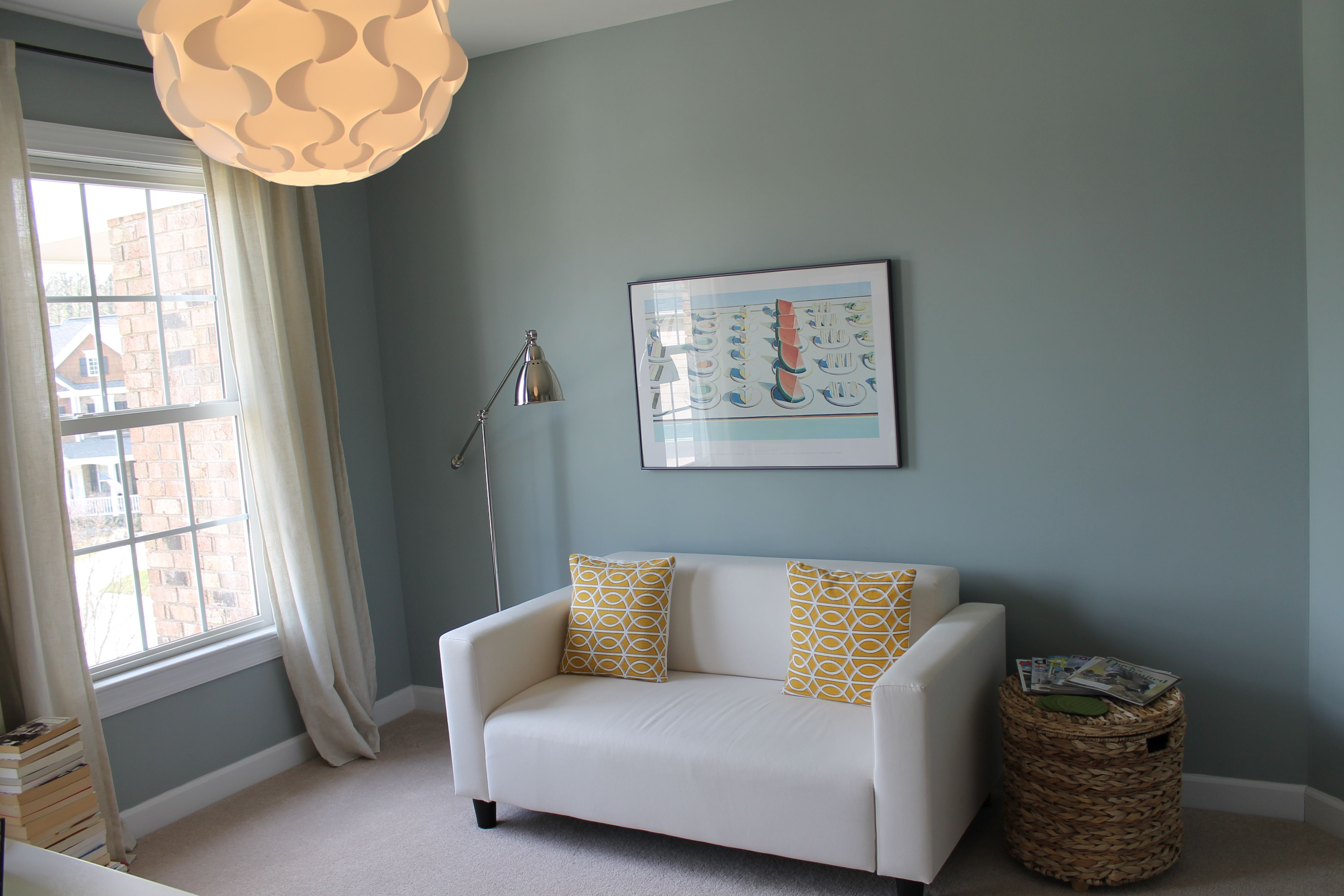 My clients office painted in beach glass benjamin moore for Benjamin moore office