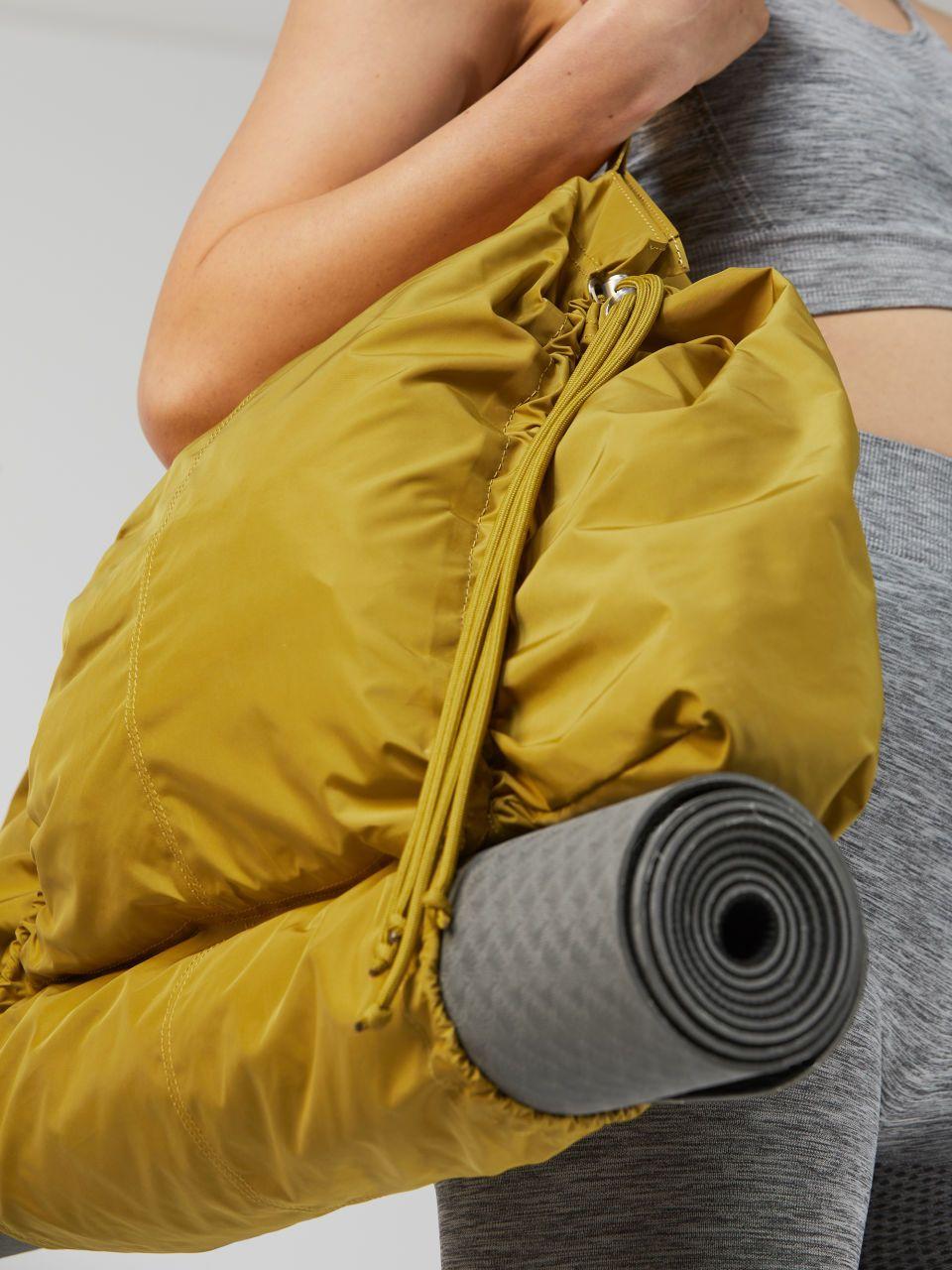 Side image of Arket yoga bag in grey   bags   Pinterest