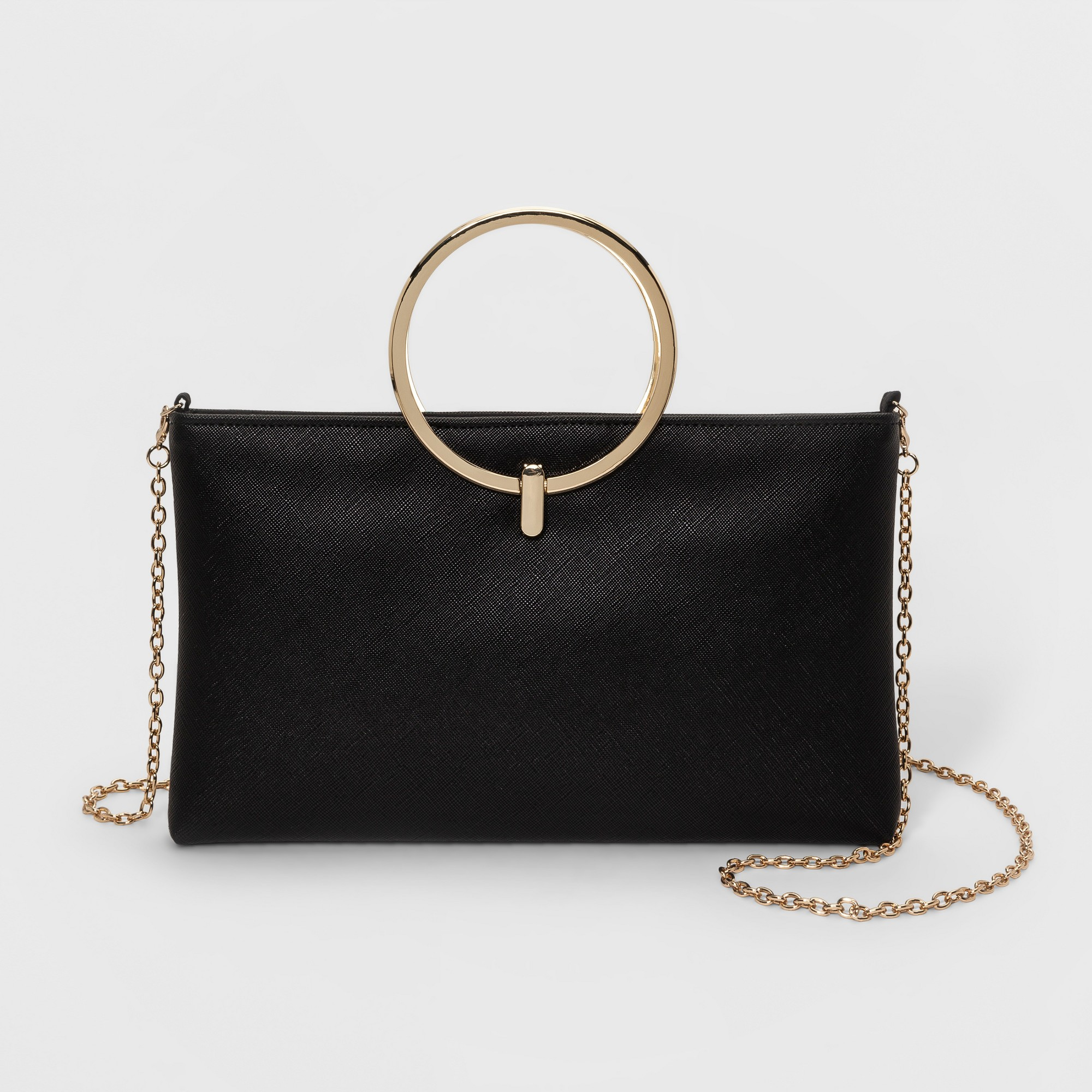 a9ce84e2f6a6 Estee   Lilly Ring Handle Clutch - Black