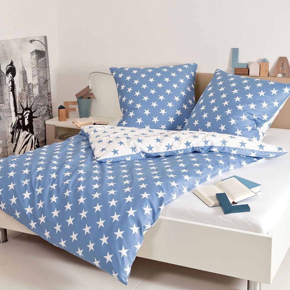 Janine Biber Bettwäsche Sterne Blau Wohlig Wärmend Und
