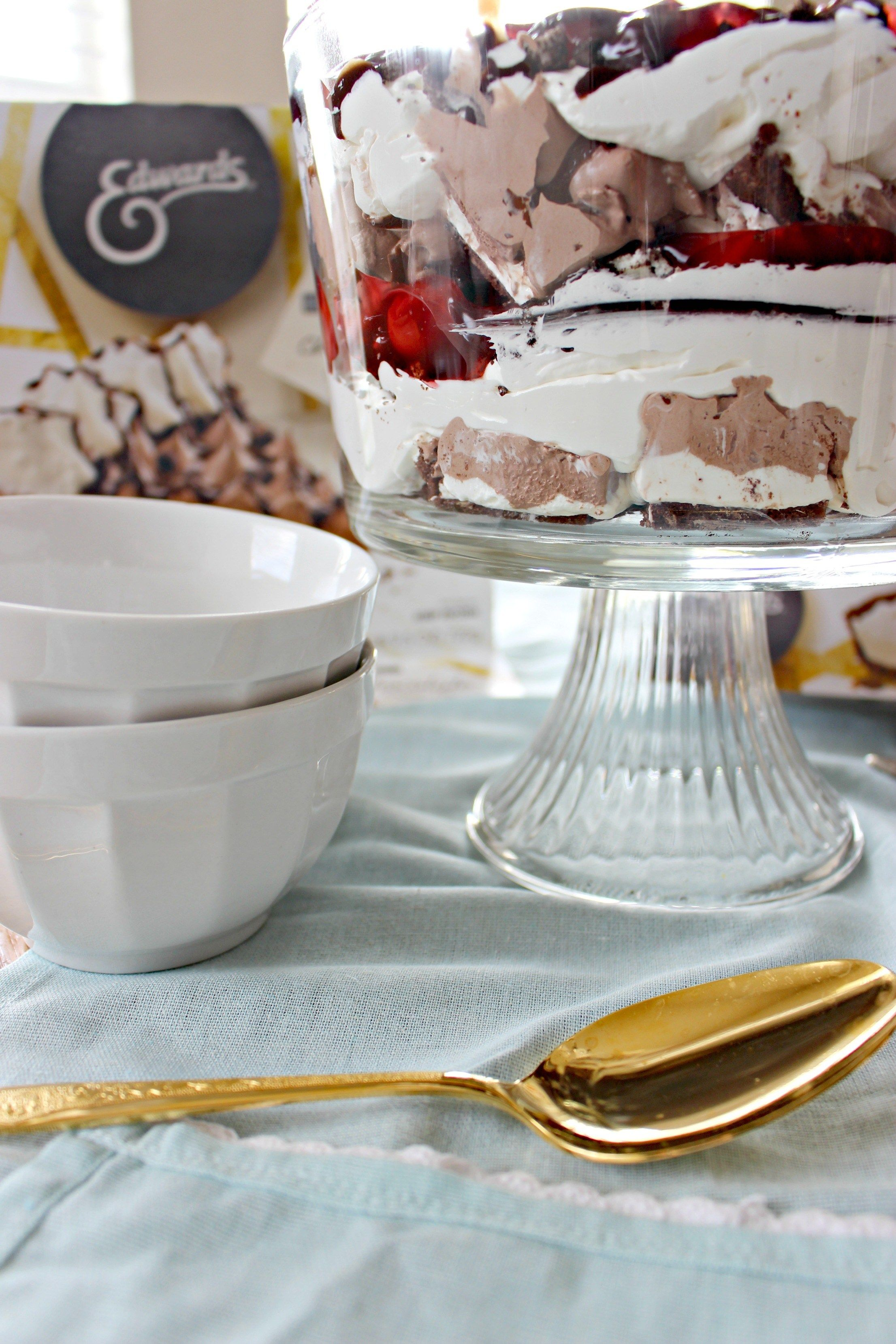 Chocolate, Cherries & Cream Trifle Dessert #Ad #SameTasteNewLook