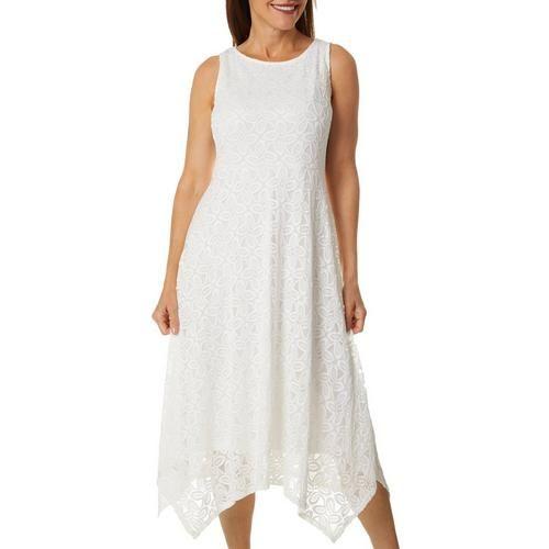 Ronni Nicole Womens Sleeveless Eyelet Lace Dress
