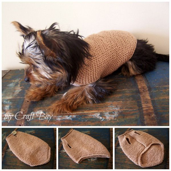 knitted dog sweater free pattern Collage | Knitted toys | Pinterest ...