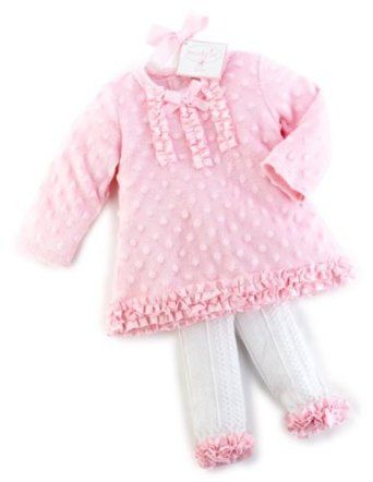 Mudpie Baby Clothes Pleasing Mud Pie Newborn Babygirls Princess Minky Tunic Legging Set All I Decorating Inspiration