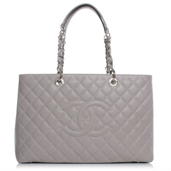 c34c5c37ceb3 CHANEL Caviar XL Grand Shopping Tote GST in Grey NEW. This stunning tote is  beautifully crafted of luxurious diamond quilted caviar leather with  shoulder ...