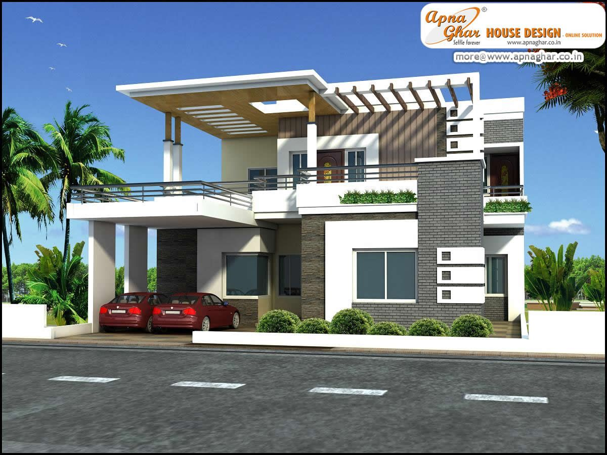 5 bedrooms duplex house design in 275m2 11m x 25m like for Maison duplex moderne