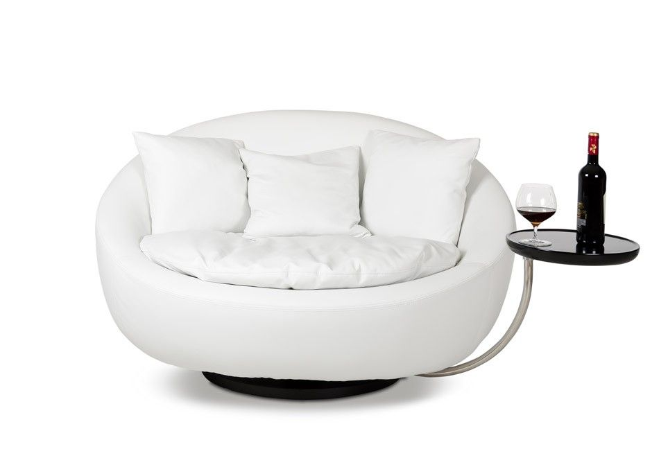 Captivating Circle Chair With Alba Modern White Round Liesure Chair